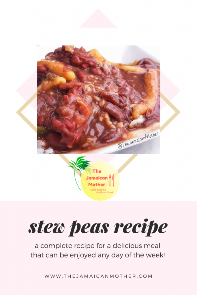 jamaican stew peas  the jamaican mother